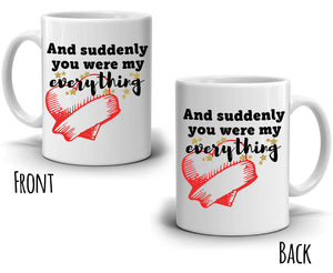 Romantic Gift for Husband and Wife Couple Mug, Unique Wedding Anniversary Gifts Coffee Cup, Printed on Both Side!