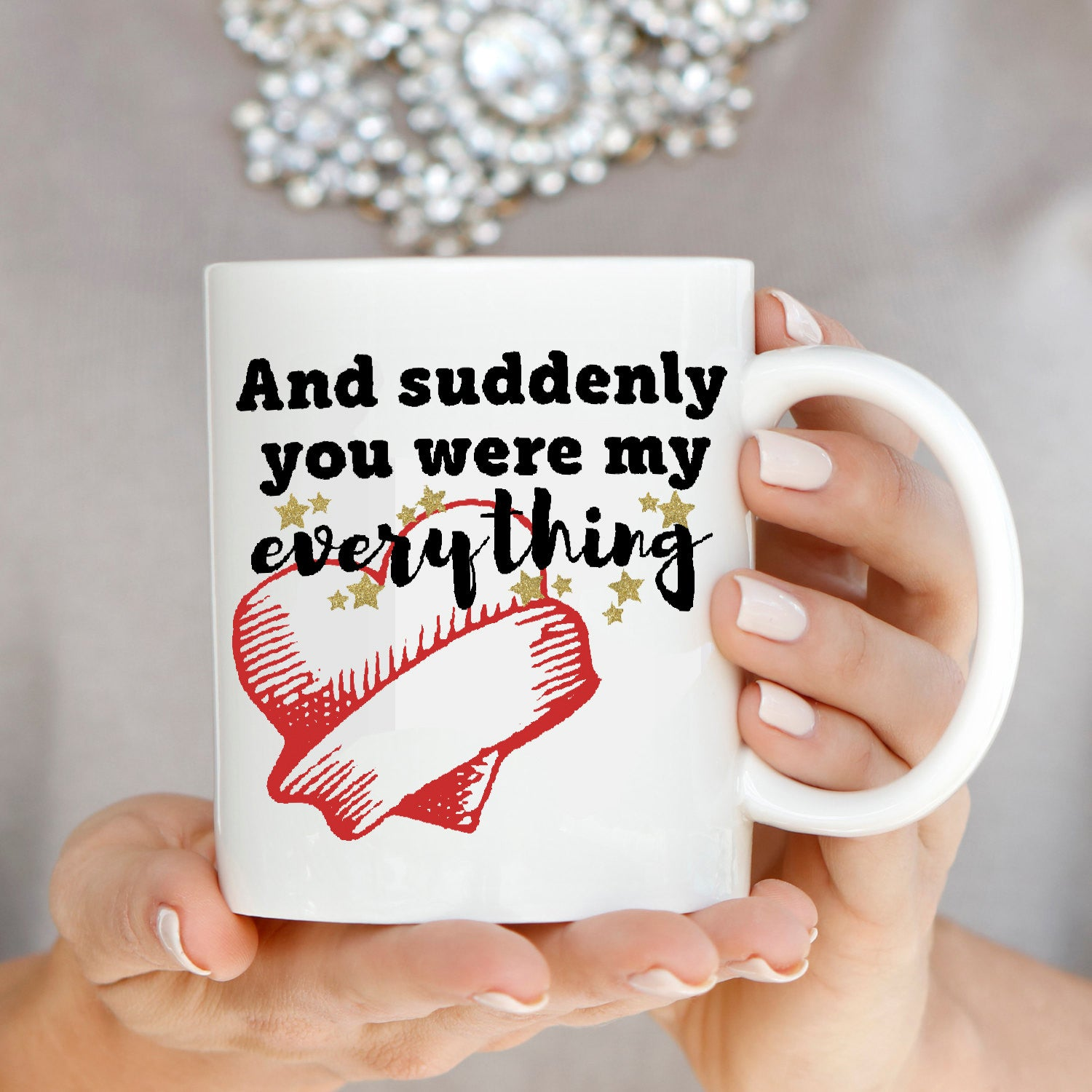 Wedding Gifts For Couples Who Have Everything: Romantic Gift For Husband And Wife Couple Mug, Unique