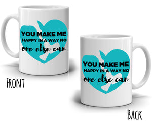 Romantic Couple Gifts for Husband and Wife Coffee Mug, Printed on Both Side!