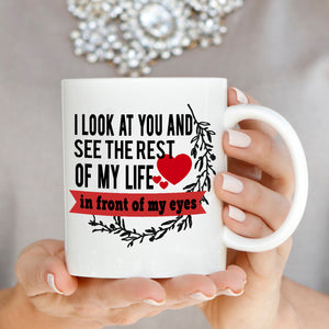 Romantic Husband and Wife Anniversary Gifts for Couple Coffee Mug, Printed on Both Sides!