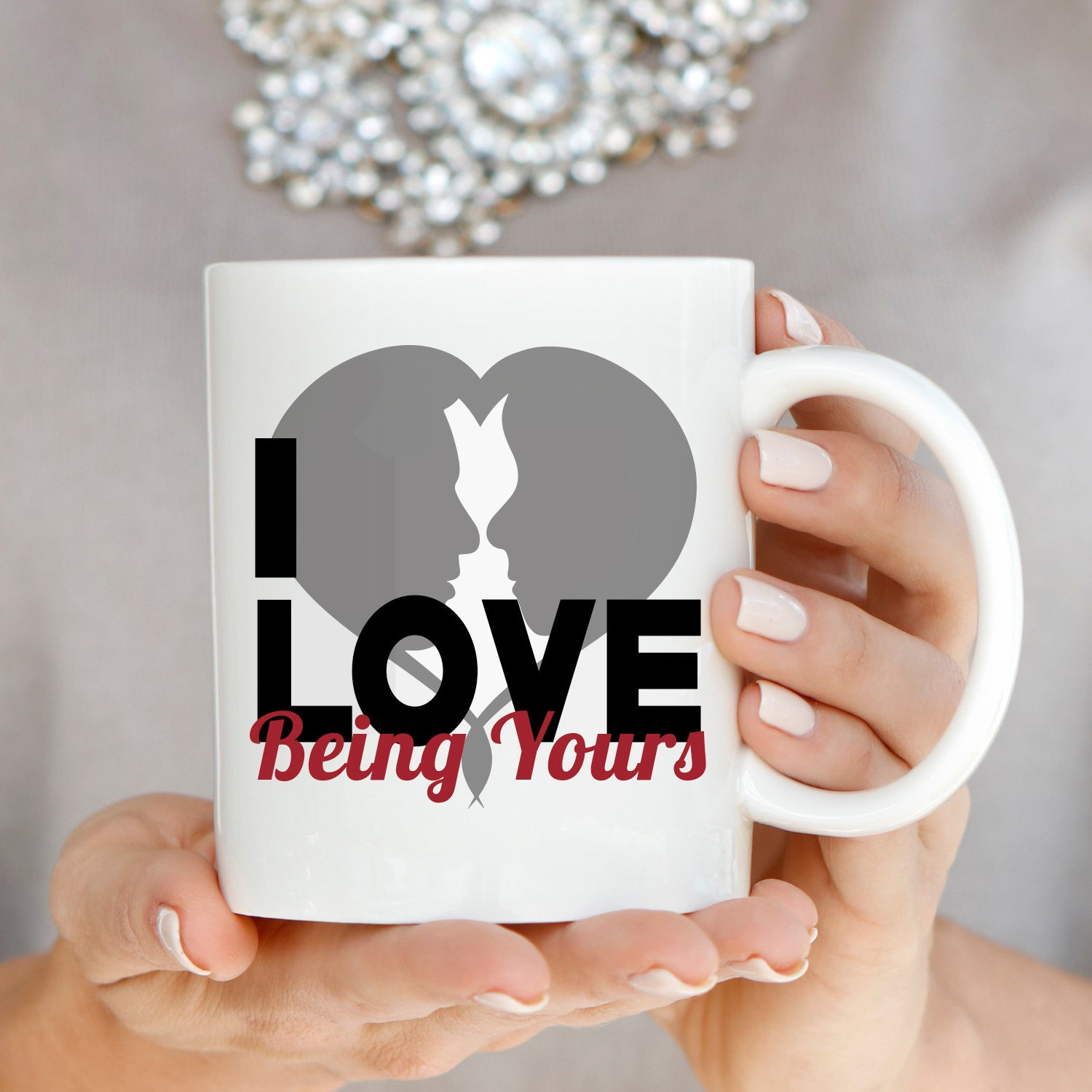 Cute Husband And Wife Romantic Gift For Couples Mug I Love Being