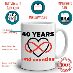 Personalized!! Years And Counting - Couple's Coffee Mug
