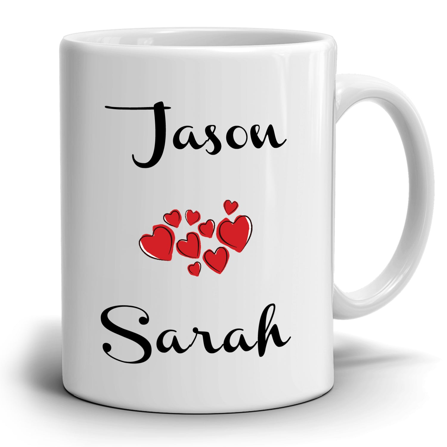Romantic Wedding Anniversary Gift Mug For Couple, Printed