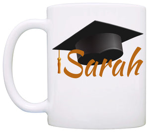 Personalized!! Graduation Cap Gifts Mug, Unique Grad Gifts for Men and Women Graduate Coffee Cup, Printed on Both Sides!