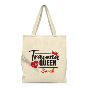 Personalized! Trauma Queen Canvas Tote bag