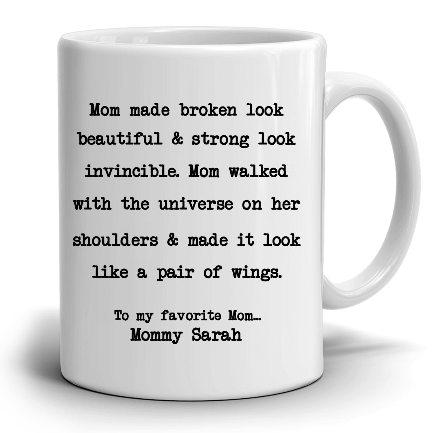 Personalized Perfect Gift For Mom From Daughter Coffee Mug Unique P Stir Crazy Gifts
