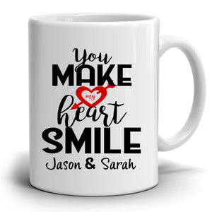 Personalized! Wedding Anniversary Gifts for Couples Coffee Mug, Perfect Romantic Gift for Husband and Wife, Printed on Both Sides!