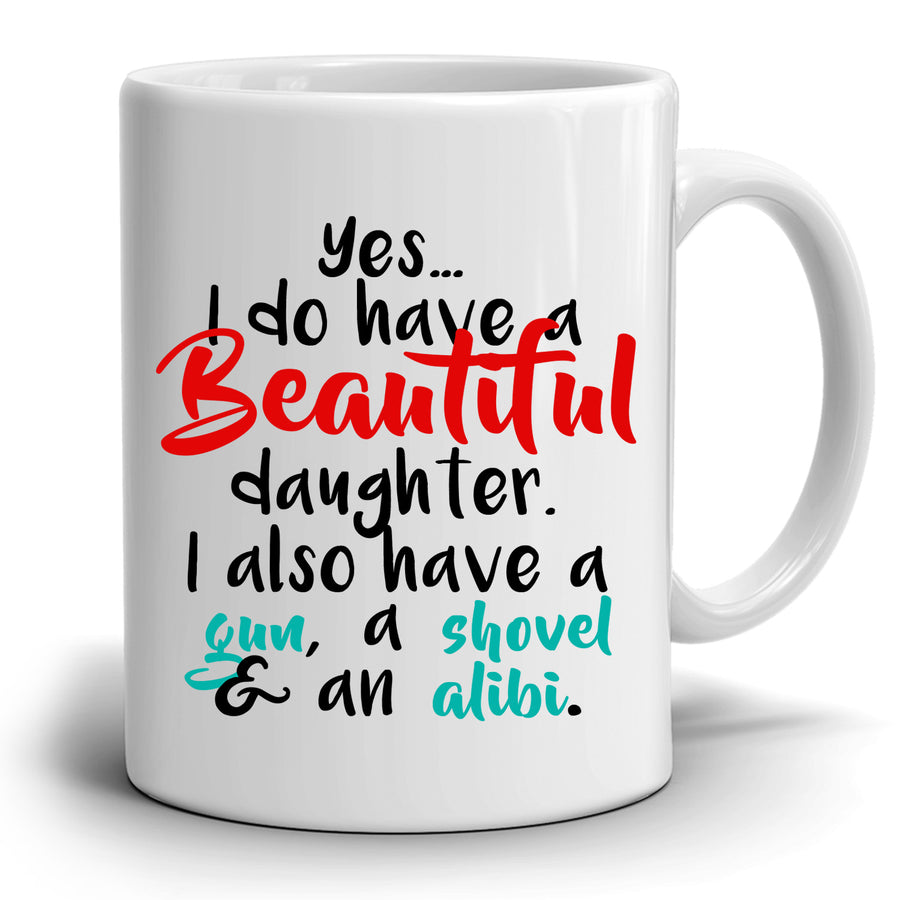 Dads Birthday Gift for Daughter Perfect Fathers Day Gifts Coffee Mug, Printed on Both Sides!