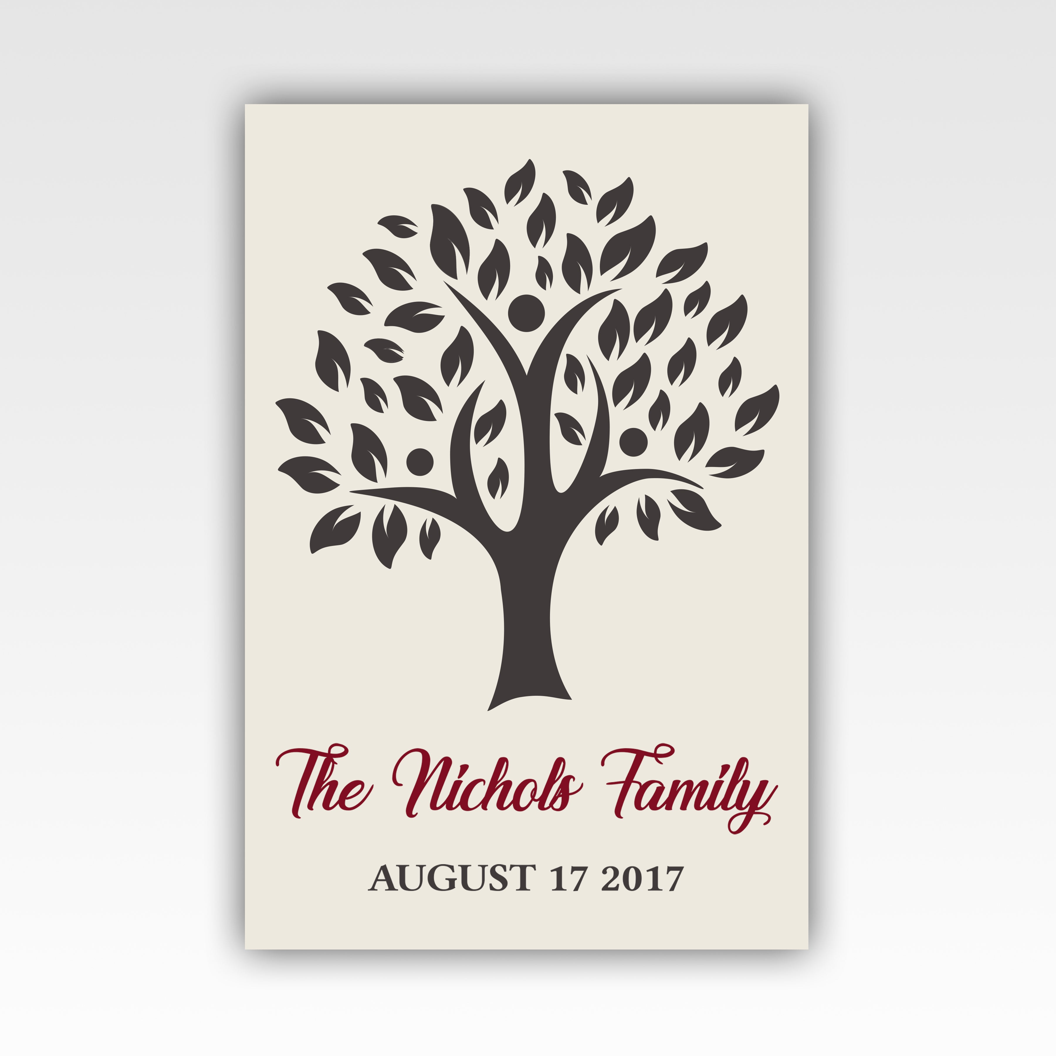 Personalized! Family Tree Gifts, Wall Art Canvas Wrap - Stir Crazy ...