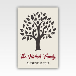 Personalized! Family Tree Gifts, Wall Art Canvas Wrap