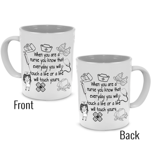 Fun Nurse Practitioner Coffee Mug, Stethoscope, Syringe Gifts for Doctors and Nurses - Printed on Both Sides - Stir Crazy Gifts