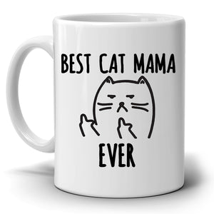 Funny Best Cat Mama Ever Coffee Mug, Unique Gifts for Mom this Mothers Day, Grandmothers Birthday and Perfect Present for Mother in Law - Stir Crazy Gifts