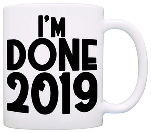 Personalized I'm Done Retirement Gift Mug
