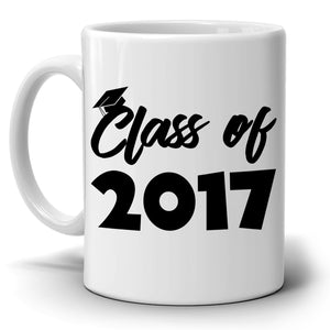 Personalized!! Class of Year Graduation Gifts Mug for College and High School Graduate Students, Printed on Both Sides!