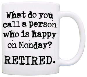 Funny Retirement Gag Gift Mug for Men and Women Coworkers, Printed on Both Sides! - Stir Crazy Gifts