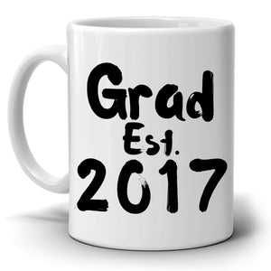 Personalized!! Grad Student Gifts Mug, Men and Women Graduate from College and High School Graduation, Printed on Both Side!