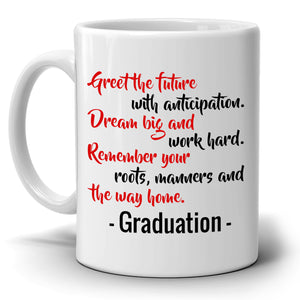 Inspirational College Graduation Quotes Gift 2017 Coffee Mug for Her, Printed on Both Sides!