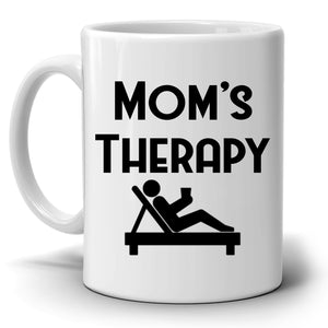 Funny Moms Therapy Coffee Mug, Unique Gifts for Mama, Grandmother, Mom Birthday and Mothers Day