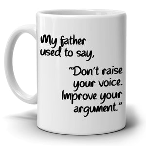 Inspirational Fathers Day Quotes from Dad Daddy Papa Grandpa to Daughter Coffee Mug, Printed on Both Sides! - Stir Crazy Gifts
