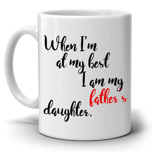 Dad Birthday and Fathers Day Gifts From Daughter Coffee Mug, Printed on Both Sides! - Stir Crazy Gifts