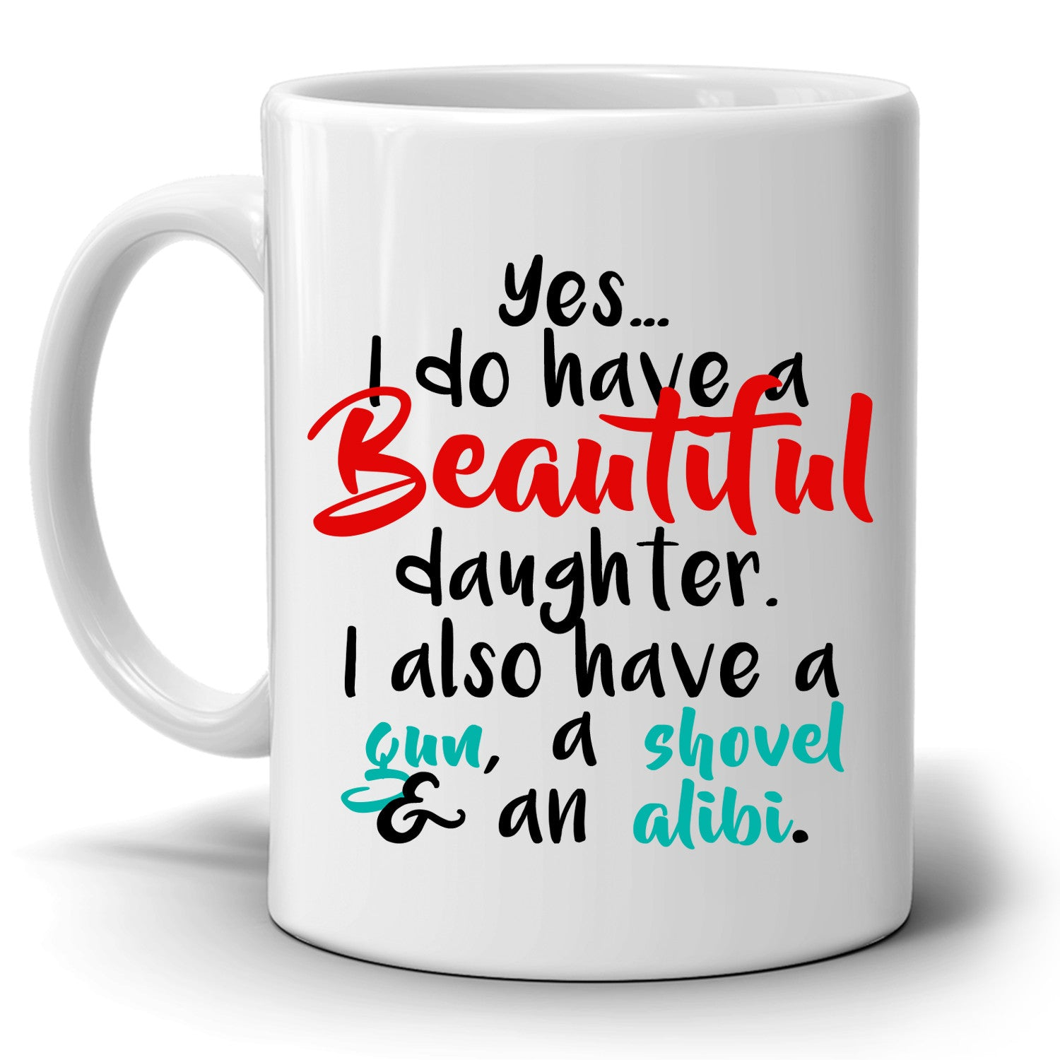 Dads Birthday Gift For Daughter Perfect Fathers Day Gifts Coffee Mug Printed On Both Sides