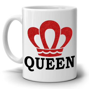 King and Queen Couples Coffee Mug Set