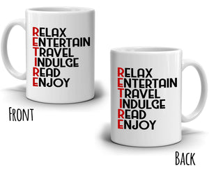 Retirement Gifts for Coworker Coffee Mug, Funny Retired Gag Gift, Printed on Both Sides!