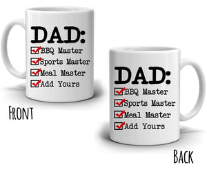 Personalized! Papa Coffee Mug, Perfect Gifts for Grandpa Dad Birthday and Fathers Day, Printed on Both Sides!
