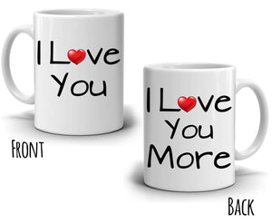 Funny Romantic Couples His and Her Gift Coffee Mug, Wedding Anniversary Valentines Day Dating Present for Husband Wife Girlfriend and Boyfriend - Printed on Both Sides
