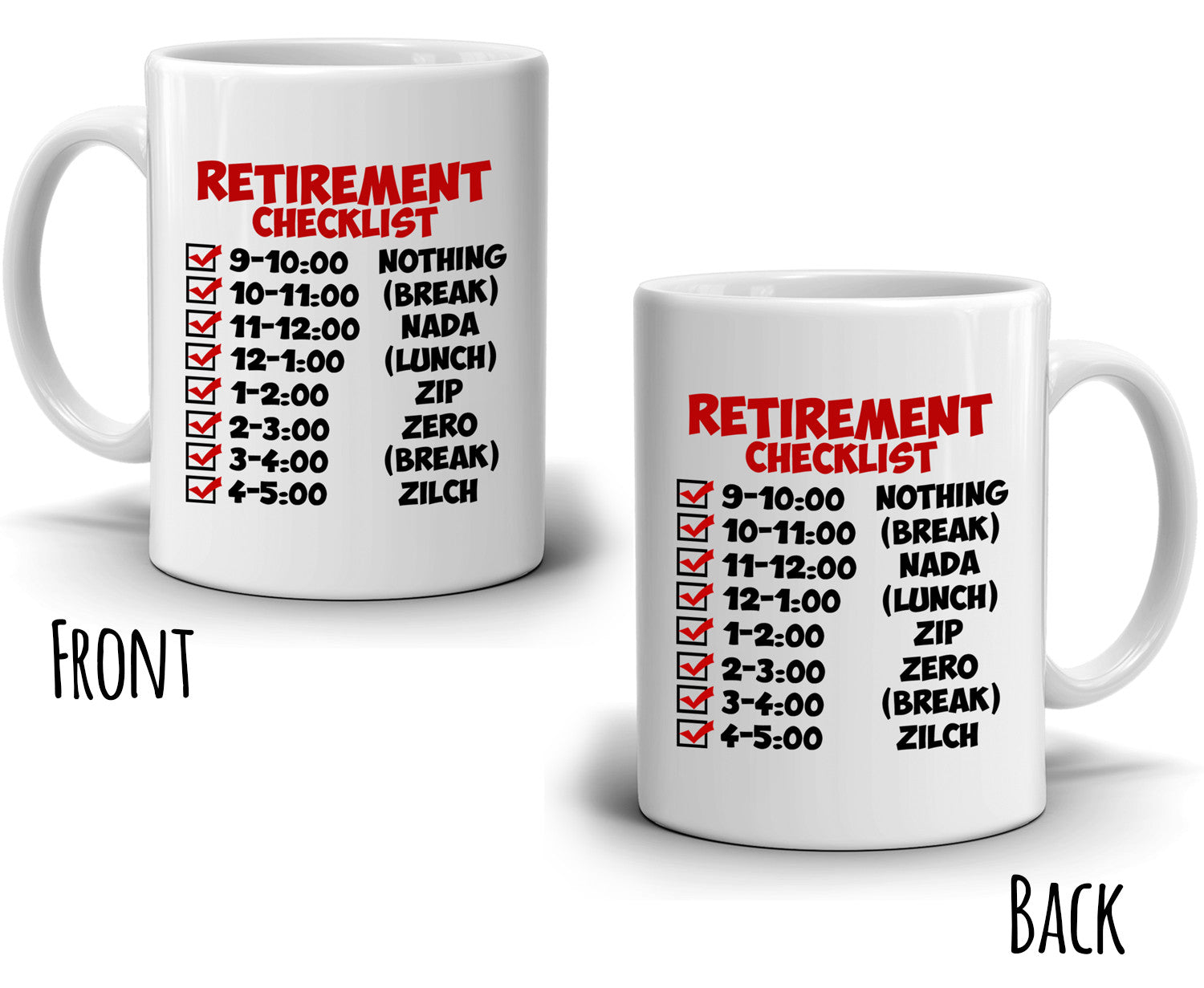 Funny retirement gift checklist coffee mug perfect humor present funny retirement gift checklist coffee mug perfect humor present ideas for coworker party invitations printed on both sides thecheapjerseys Image collections