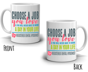 Registered Dental Hygienist Coffee Mug, a Cool, Unique Gift for Dental Students and Graduates - 100% Microwave and Dishwasher Safe