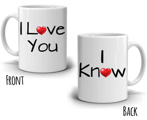 Funny His and Her Couples Bride Groom Engagement Gift, Romantic Wedding Anniversary Coffee Mug Ideas for Husband and Wife - Printed on Both Sides