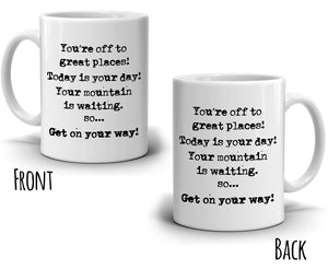2017 Grad Inspirational Graduation Gifts for Him and Her Coffee Mug, Printed on Both Sides!