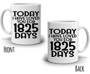 Personalized! Romantic Gift for Couples Coffee Mug, Perfect His and Her Anniversary Present for Husband and Wife, Printed on Both Sides!