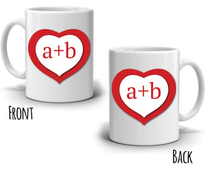 Personalized! Romantic Couples Love Coffee Mug, Perfect Anniversary Wedding Gifts for Husband and Wife, Printed on Both Sides!