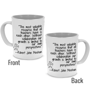 A Unique, Cool Coffee Mug For Teacher, Graduation, Appreciation, Friends - Printed on Both Sides!