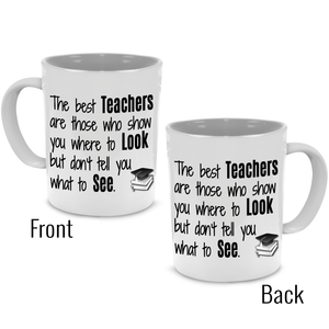 Cute Funny Thank You Teacher Gifts Mug - Printed on Both Sides! - Stir Crazy Gifts