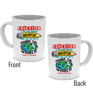 Funny Unique Thank You Teacher Coffee Mug - Cute Graduation, Appreciation or Retirement Gift - Printed on Both Sides! - Stir Crazy Gifts