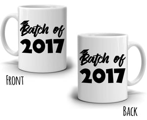 Personalized!! Batch of Year Graduation Gifts Mug for College and High School Graduate Students, Printed on Both Sides!