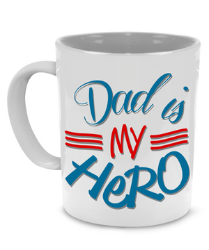 Dad is my Hero - Fathers Gift Mug - Stir Crazy Gifts