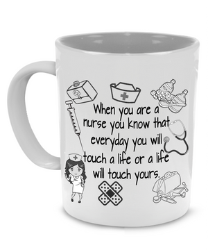 Fun Nurse Practitioner Coffee Mug, Stethoscope, Syringe Gifts for Doctors and Nurses - Printed on Both Sides