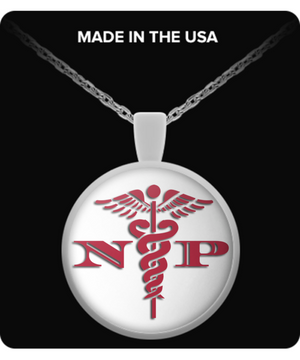 Nurse Practitioner Logo Gift Necklace