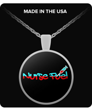 Nurse Fuel Stethoscope - Nurse Gift Necklace