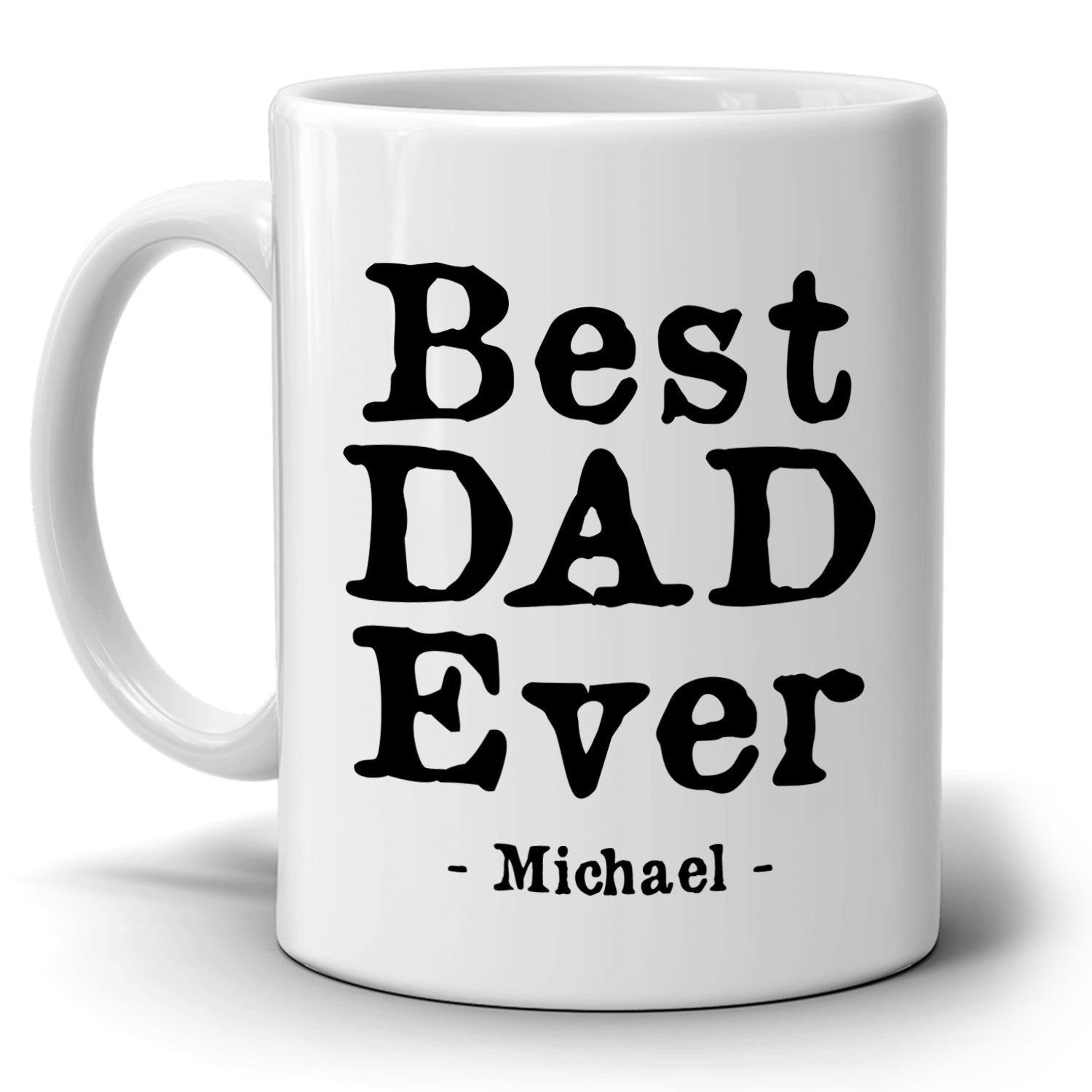 Personalized!! Best Dad Ever Coffee Mug, Gift for Papa and Grandpa ...