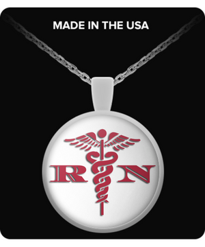 Registered Nurse Logo Gift Necklace