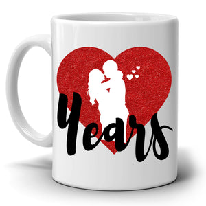 Personalized! Years of Marriage Wedding Anniversary Gifts for Couples Coffee Mug, Printed on Both Sides!
