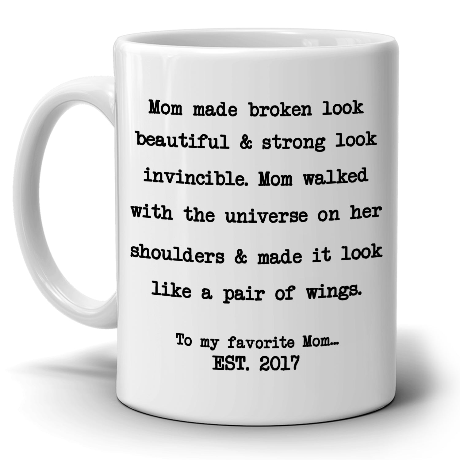 Perfect Gift For Mom From Daughter Coffee Mug Unique Presents Mothers Day Birthday And Grandma Thank You Gifts