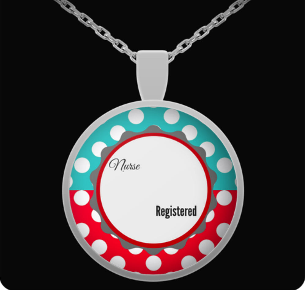 Personalized Registered Name Nurse Gift Necklace