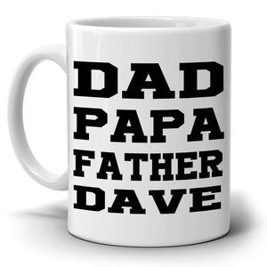 Personalized!! Fun Coffee Mug, Best Dad, Papa, Father - Birthday, Fathers Day Gift - Printed on Both Sides!