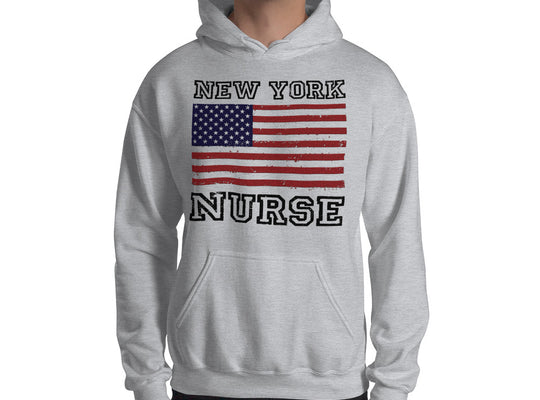 New York Nurse Hooded Sweatshirt - Stir Crazy Gifts